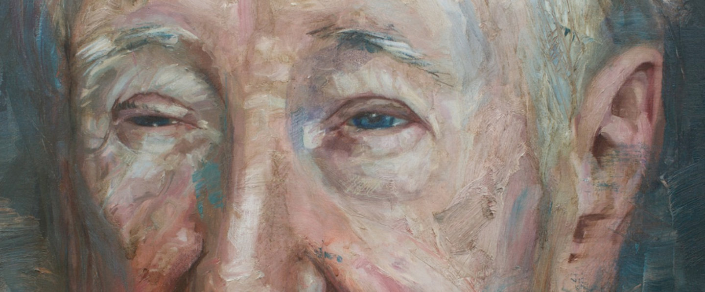 Colin Davidson, Portrait of John Montague (detail), 2016