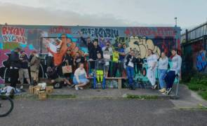 Rap artists from the Kabin Studio: Bandfield concert for Mardyke 300
